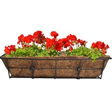 Deck Railing Planter Box Plans by Amazon Com Cobraco Black 24 Inch Antoinette Adjustable Deck Rail