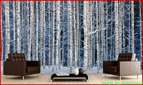 Woodland Forest Peel And Stick Wall Mural Giant Wallpaper Mural Collection Black White Wall