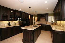Kitchen Cabinets Black And White White Kitchen Espresso Island View Full Size To Inspiration With
