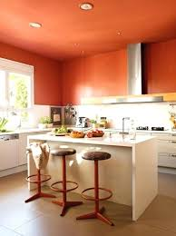 Orange And White Kitchen Ideas Orange Kitchen Bloomingcactus Me