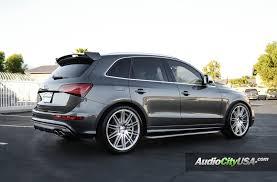 audi q5 rims and tires 2015 audi s q5 on 22 blaque wheels bd 2 silver machine rims