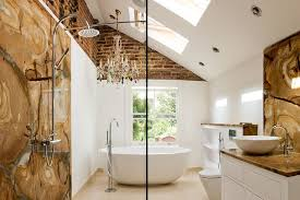 Small Bathroom Chandeliers Bathrooms Eclectic Bathroom With Cool Wall Decor And Free