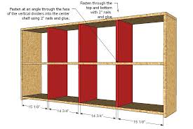 Storage Shelf Woodworking Plans by Ana White 2x4 Console Cubby Shelves Diy Projects