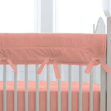 solid light coral crib bedding carousel designs