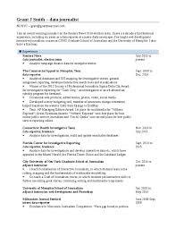 Journalism Resume Resume U2013 Grant Me Access