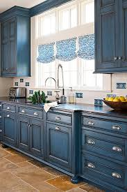 image result for blue chalk paint kitchen cabinets herbs