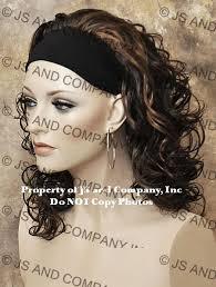 headband wigs short curly headband wig