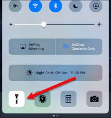 How To Turn Off Iphone Light How To Turn On The Flashlight On Ios U0026 Android Devices