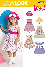 new look sewing pattern 6879 toddler dresses sizes a 1 2 1 2 3