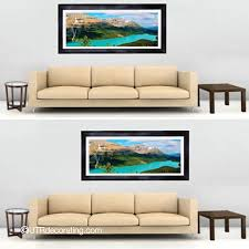 How To Hang A Picture Centering Art Relative To Furniture Versus The Wall Utr Déco Blog