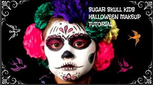 Halloween Skeleton Make Up by Sugar Skull Pom Pom Kids Halloween Skeleton Makeup Tutorial Youtube