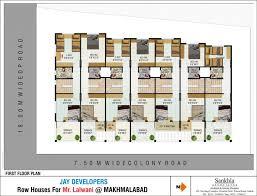 row house floor plans row house floor plans modern plan dwg bangalore soiaya in 500 sq