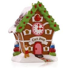 amazon com hallmark qx9167 noelville gingerbread clock shop