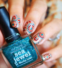 indian ocean polish aboriginal dotted nail art