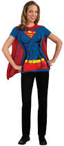 tshirt halloween supergirl t shirt costume kit buycostumes com