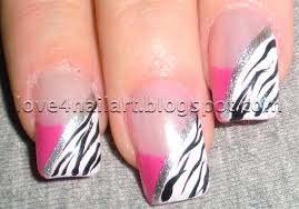 pink and purple gel nail designs