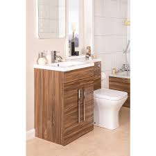 Bathroom Combination Furniture by Feel Curved Bathroom Suite With Lh Walnut Combi Vanity Unit