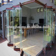 Interior Folding Glass Doors China Gold Supplier Frameless Folding Glass Door Lowes Glass