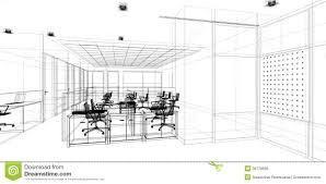sketch design of interior office illustration 38179686 megapixl