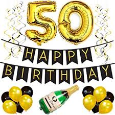 50th birthday party decorations 50th birthday party pack black gold happy birthday bunting