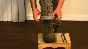 blouse your boots tying and blousing marine corps boots