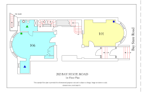 Floor Plan To Scale by 202 Bay State Road Housing Boston University