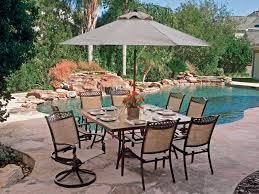 Patio Table Tile Top Cordoba Sling Aluminum 9 Pc Combo Dining Set Chair King