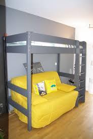 chambre enfant mezzanine lit mezzanine enfant clay gris achat mobilier bois massif
