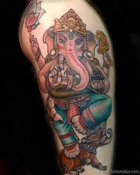 ganesha tattoo on shoulder 40 classic ganesha tattoos on thigh