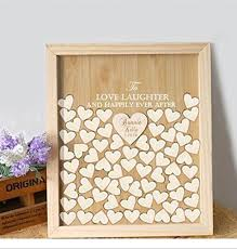 engravable wedding guest book wedding guest book alternative wood personalized