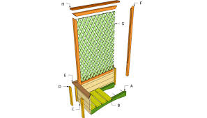 How To Build A Trellis by Planter With Trellis Plans Myoutdoorplans Free Woodworking
