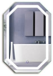 wall mounted bathroom mirrors oval led lighted wall mount bathroom mirror fog free 20 x30