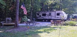 Ohio Campgrounds Map Thompson Grand River Valley Koa Rv Spaces In Thompson Oh
