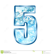 winter alphabet number 5 five stock illustration image 7038031