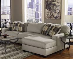 Sleeper Sectional Sofa For Small Spaces Small Sectional Sofa In Brown Fabric Andrea Outloud