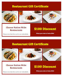 discount restaurant gift cards 36 free gift certificate templates bates on design