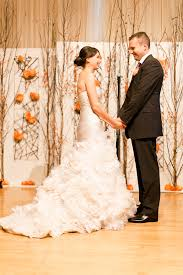 wedding vow backdrop ny cityscape wedding backdrops and orange wedding flowers