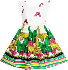 girls dresses made with 100 cotton sunny fashion