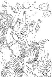 mermaid coloring pages free printable coloring pages