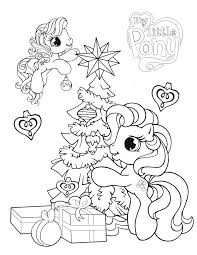 pony christmas tree coloring u0026 coloring pages