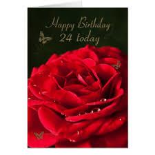 24th birthday cards invitations zazzle co uk