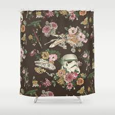 See Through Shower Curtain Botanic Wars Shower Curtain By Joshln Society6
