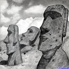 how to draw easter island heads moai statues moai pinterest