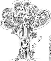 free coloring showing tree love
