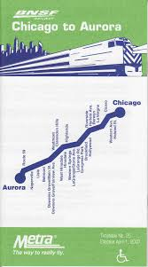 Chicago Metra Map by Metra
