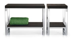 Woodwo by Contemporary Bench Wooden Stainless Steel Wood Wo Sm