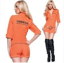 Orange Prison Jumpsuit Halloween Costume Orange Escaped Prisoner Inmate Prisoner Jumpsuit Prison
