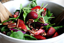 simply scratch strawberry spinach salad and poppy seed vinaigrette