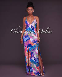 sexi maxi dress allegra bold multi color ultra maxi dress