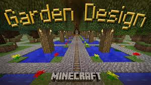 minecraft how to make a cool garden design youtube